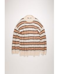 Acne Studios - Striped Sweater old Pink/multi - Lyst