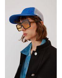 Acne Studios Casquette de baseball en coton et filet - Bleu