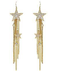 Ben Amun Star Fringe Earrings - Lyst