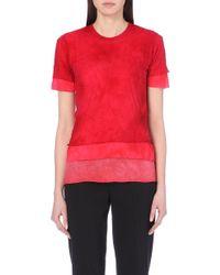 Comme des Garçons Cotton-Jersey T-Shirt - For Women red - Lyst