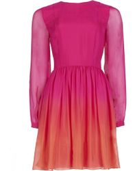Matthew Williamson Ombre Spring Chiffon Boho Dress - Lyst