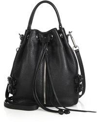 Rebecca Minkoff Moto Bucket Bag - Lyst