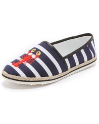 Mother Of Pearl - Lagan Embroidered Espadrille Flats - Lobster - Lyst