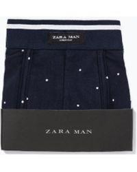 Zara Dot Print Boxers blue - Lyst