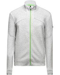 BOSS Green Regular-fit Sweatshirt Jacket With Mottling: 'skaron' - Grey