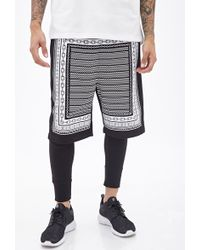 21men Chain Graphic Knit Shorts - Lyst
