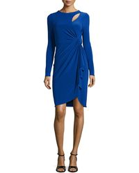 Catherine Catherine Malandrino Terri Knotted Long-Sleeve Dress - Lyst
