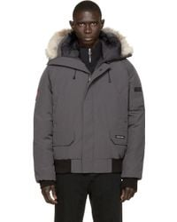 Canada Goose expedition parka replica price - Canada goose Black Fur-trimmed 'chilliwack' Bomber Jacket in Gray ...