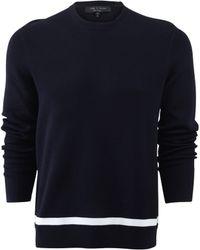 Rag & Bone Adam Crew Sweater blue - Lyst