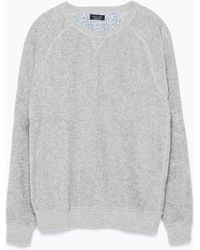 Zara Sweatshirt gray - Lyst