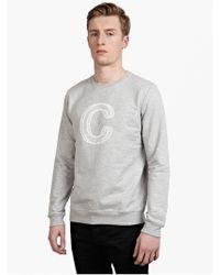 A.P.C. Men'S Grey Cotton Sweatshirt - Lyst