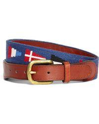 Brooks Brothers - Nautical Flag Needlepoint Belt - Lyst