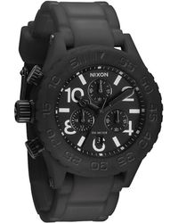 Nixon Black Rubber Chrono 42-20 Watch - Lyst