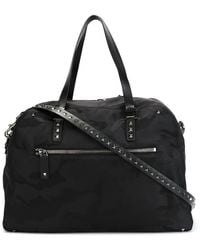 Valentino Camouflage Holdall - Black
