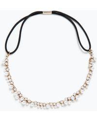 Zara Colored Jewels Hairband - Lyst