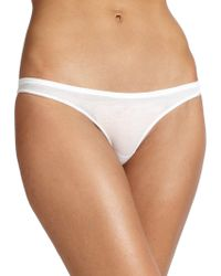 Skin Organic Pima Cotton Bikini Brief white - Lyst