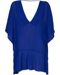 ViX | Solid Blue Maud Caftan | Lyst