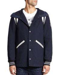 Diesel Wool-Blend Varsity Coat blue - Lyst