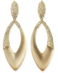 Alexis Bittar Asymmetric Marquise Lucite Clip-On Earrings - Lyst