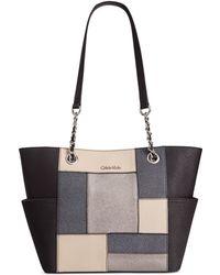 Calvin Klein   Saffiano Leather Tote   Lyst