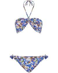 Matthew Williamson Wood Cut Bandeau Bikini - Lyst