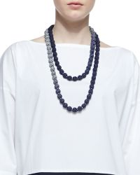 Eileen Fisher - Mini Striped Beaded Necklace - Lyst
