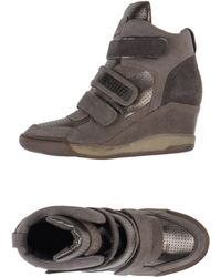 Ash Gray Hightops Trainers - Lyst
