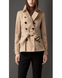 Burberry Cotton Gabardine Trench Jacket - Lyst