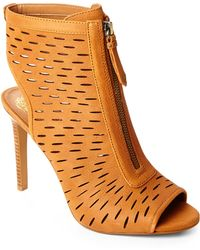 Vince Camuto Tan Waver Booties - Lyst