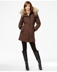 Rudsak - Real-fur-trim Leather-trim Coat - Lyst