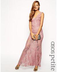 Asos Lace Fishtail Maxi Dress - Lyst