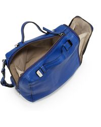 Halston Heritage Pebbled Leather Baby Satchel Bagcobalt - Lyst