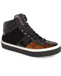 Jimmy Choo Belgravia Patent-Leather High-Top Sneakers - Lyst