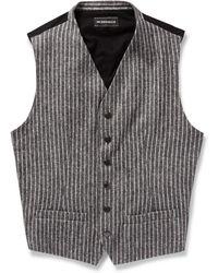 Ann Demeulemeester Striped Cottonblend Waistcoat - Lyst