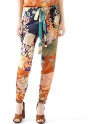 Gucci Patchwork Print Silk Jogging Pant - Lyst