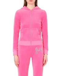 Juicy Couture Delmar Velour Hoody - For Women - Lyst