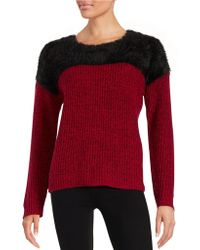 Two By Vince Camuto Eyelash And Marled Knit Jumper - Multicolour