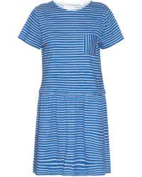 Chinti & Parker Dropped-Waist Striped Jersey Dress blue - Lyst