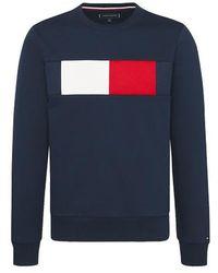 Tommy Hilfiger Sweater Met Logo - Blauw