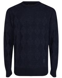 Tommy Hilfiger Sweater Ruit - Blauw