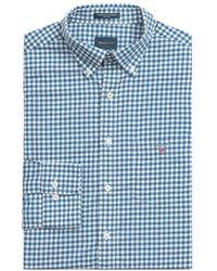 GANT Overhemd Ruit Lichtblauw