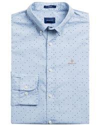 GANT Overhemd Lichtblauw Dessin
