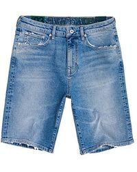 Superdry Short Slim Jeans - Blauw