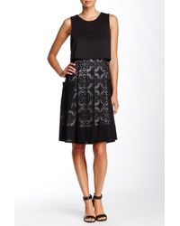 Adrianna Papell - Popover Lace A-line Cocktail Dress - Lyst