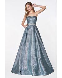 Cinderella Divine - Strapless Semi-sweetheart Beaded Ballgown - Lyst