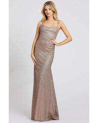Ieena Duggal 26330i Shimmer Scoop Neck Backless Mermaid Evening Gown - Multicolour