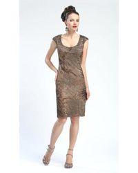 Sue Wong Sequin-trimmed Floral Cap Sleeve Short Dress - Multicolor