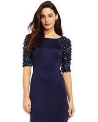 Adrianna Papell - Ap1e201359 Embellished Scuba Sheath Dress - Lyst