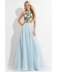 Rachel Allan - Floral Embroidered Two Piece Gown - Lyst
