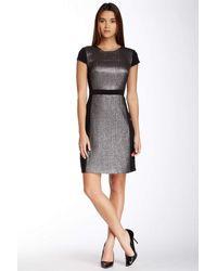 Muse M2653m Metallic Quilt Short Dress - Multicolor